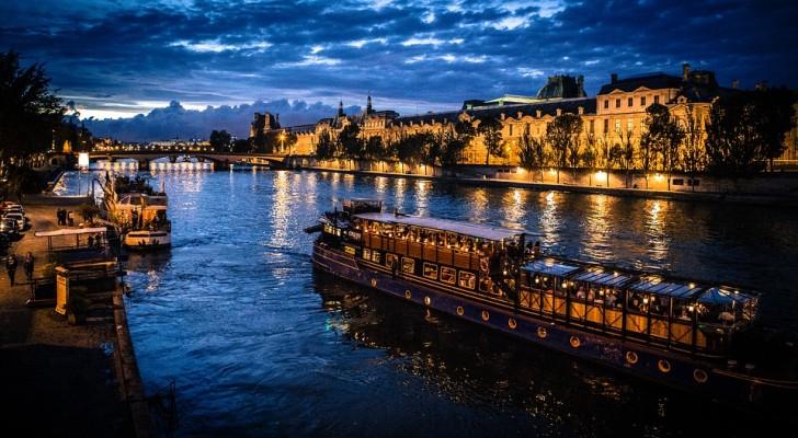 Ночная Сена, Париж