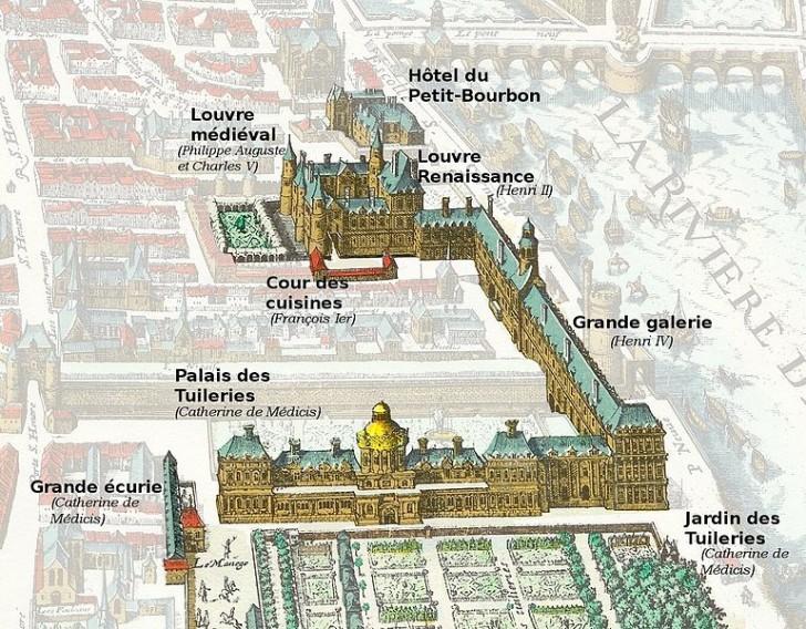 Лувр в 1615 году