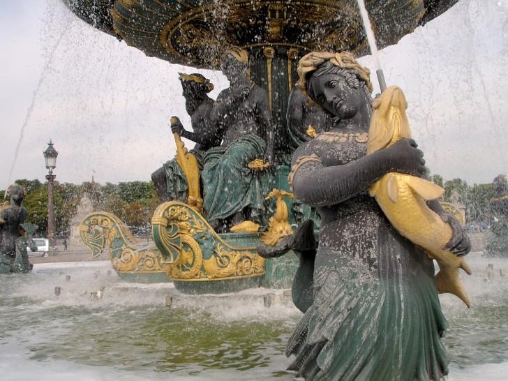 Фонтан, Площадь Согласия, Париж