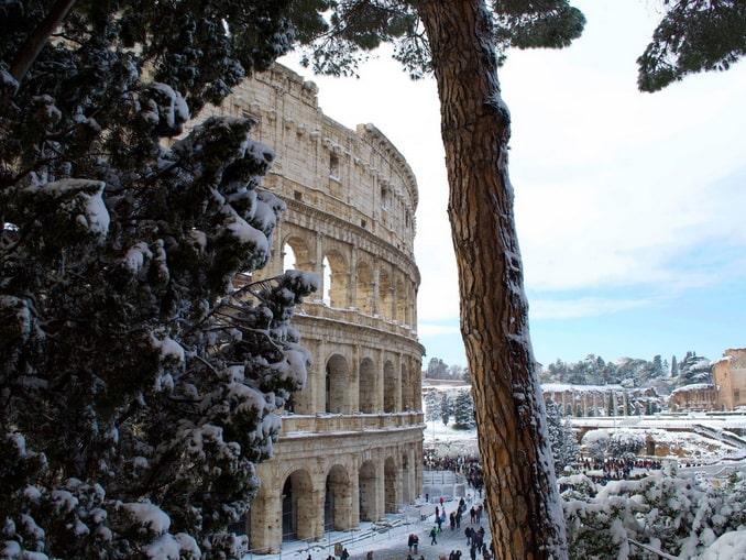 Колизей зимой