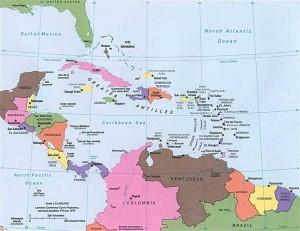 Карта Центральной Америки