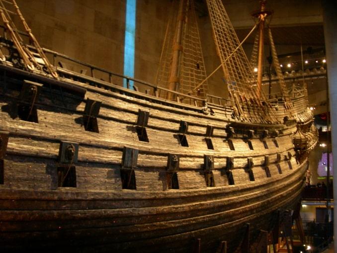 Корабль Васа - вид в корму