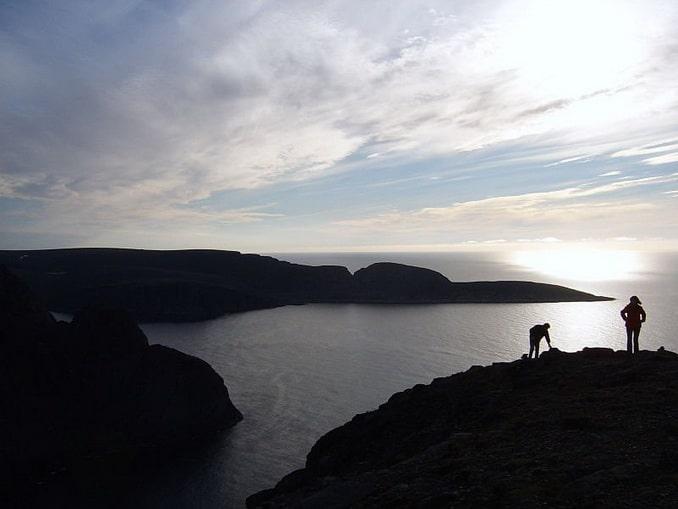 Вид на мыс Кнившелльодден, Норвегия