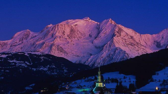 Гора Монблан, Европа