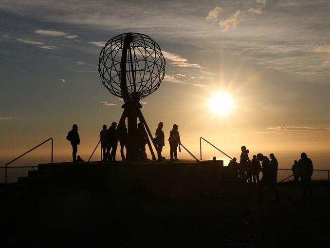 Глобус на Нордкапе, Норвегия