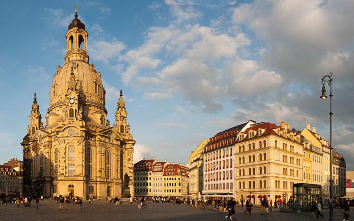 Фрауэнкирхе в Дрездене, вечер