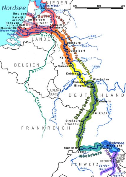 Рейн на карте, © Ulamm