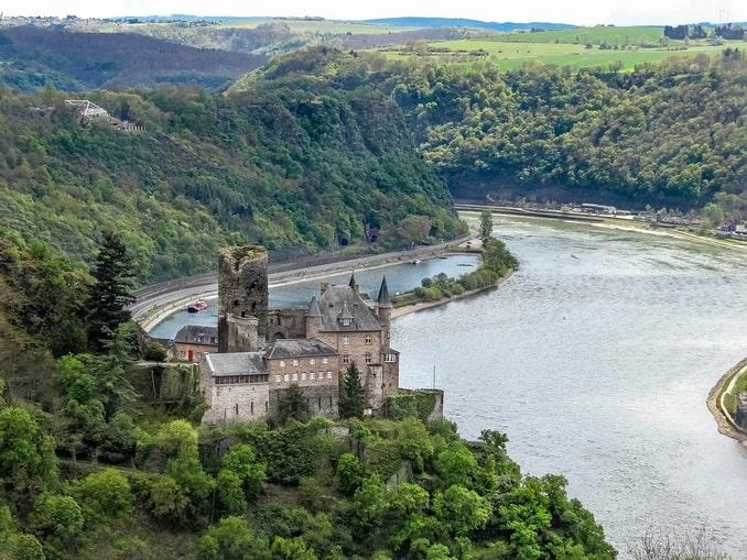 Замок Катц и Скала Лорелеи на Рейне