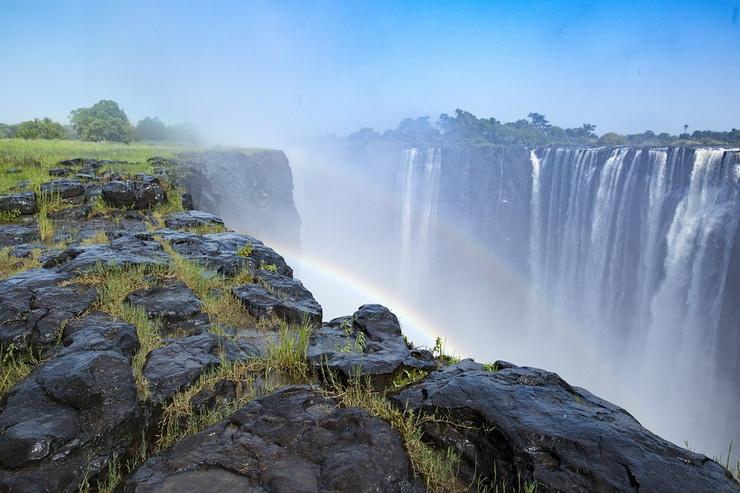 Водопад Виктория - радуга
