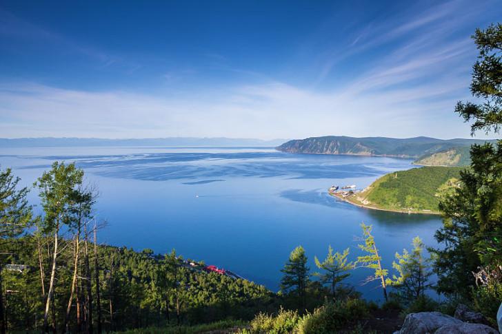 Исток Ангары, вид с Камня Черского, фото Мельников Вячеслав