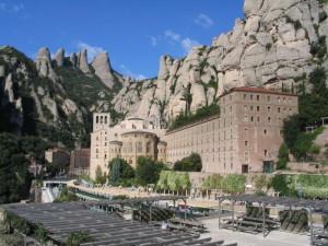 Вид на монастырь Монсеррат