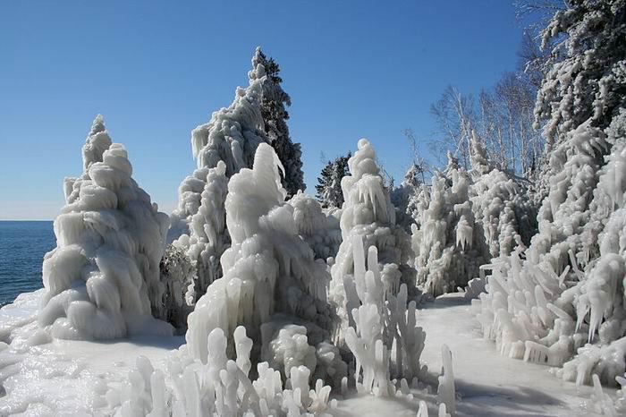 Озеро Верхнее зимой