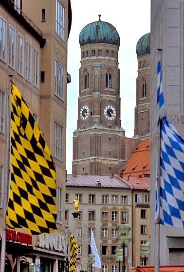 Башня Фрауэнкирхе в Мюнхене