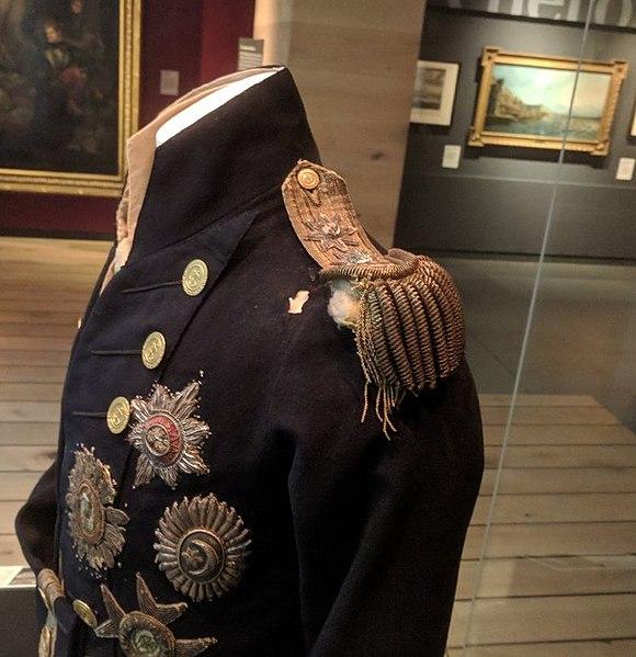 Мундир Нельсона в Национальном морском музее