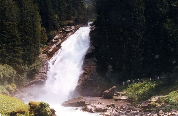 Водопад в Криммле, Австрия