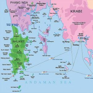 Карта Краби