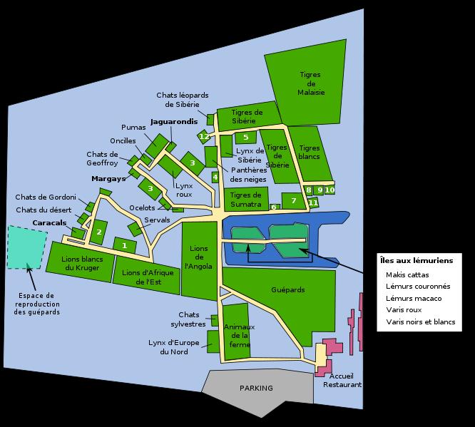 План зоопарка, фото Abujoy / Wikimedia Commons