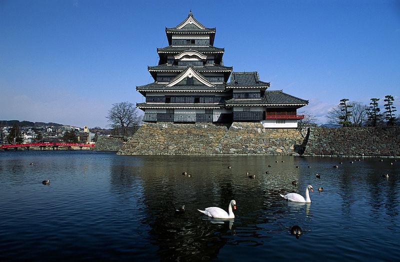 Замок Ворона, вид с пруда