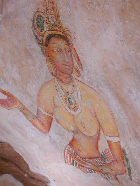 Фреска в Сигирии