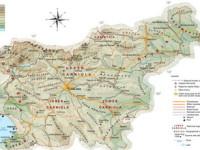 Карта Словении, баннер