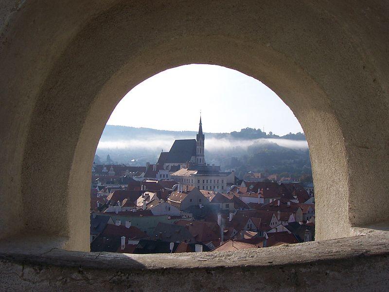 Вид из замка на Чески-Крумлов