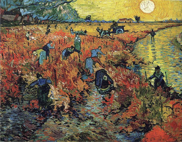Красные виноградники в Арле, Ван Гог