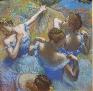анцовщицы в голубом (Голубые танцовщицы), Эдгар Дега