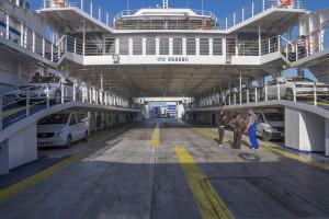 Паром в Крым, палуба