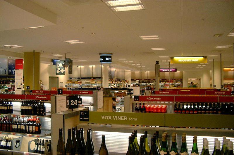 Винный магазин в Швеции