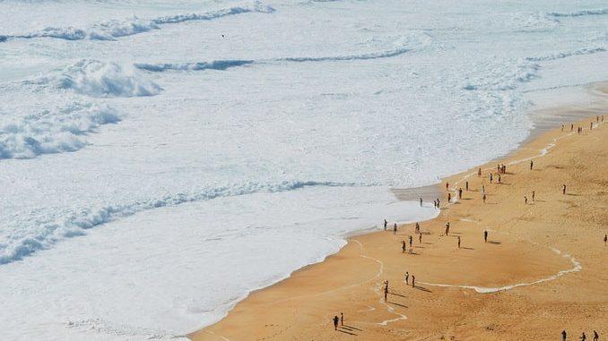 Пляж в Назаре