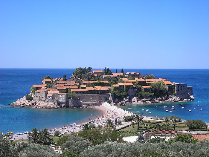 Остров Святой Стефан, Черногория