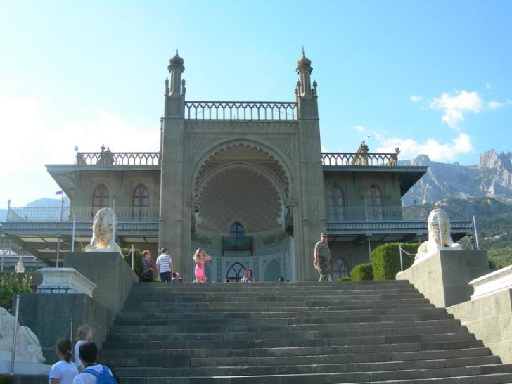 Воронцовский дворец, вид с Южных террас