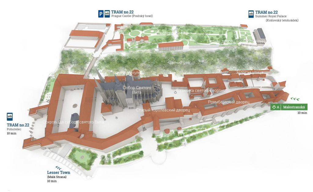 Пражский град - карта