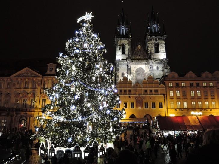 Прага, Тынская площадь, Рождество