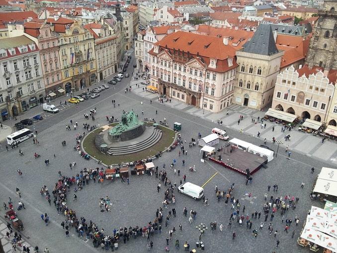 Староместская площадь, Прага, вид с высоты