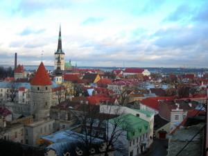 Утренний Таллин на Новый год