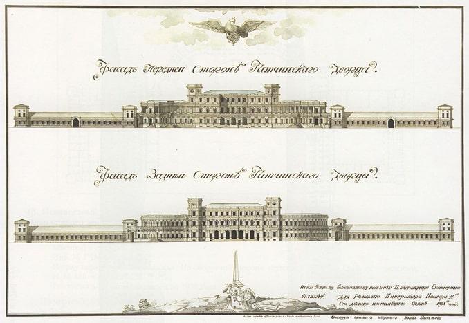 Гатчинский дворец в 1781 году