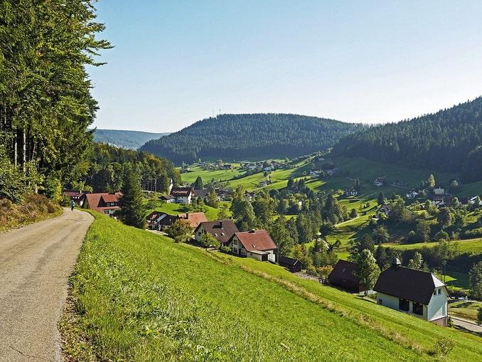 Дорога в Шварцвальде, Баден-Вюртемберг, Германия