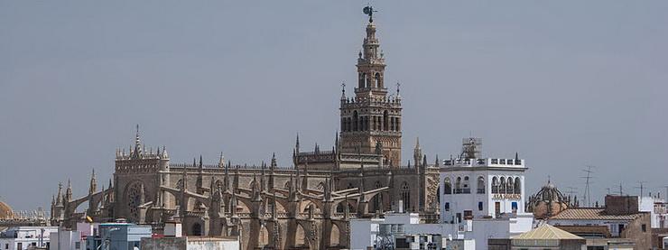 Севильский собор и крыши Севильи
