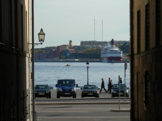 Стокгольм, вид на паром Викинг Лайн