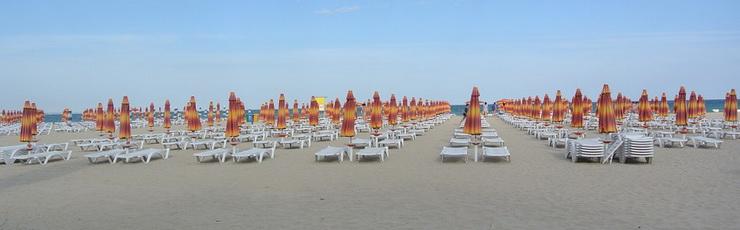 Пляж на болгарском курорте