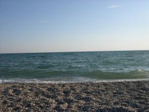 Пляж под Евпаторией