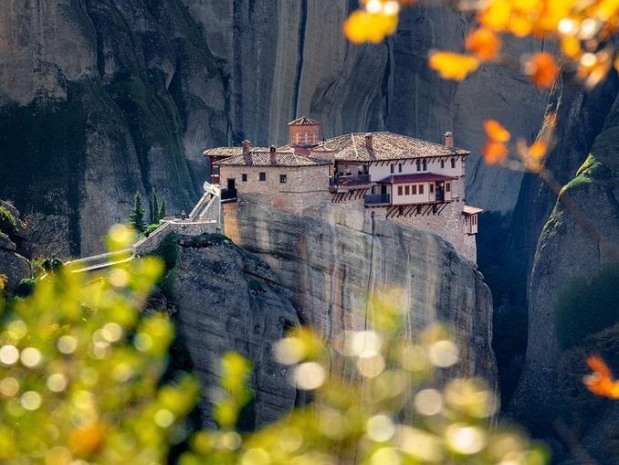 Монастырь в Метеорах, Греция