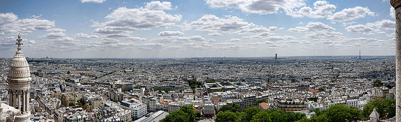 Панорама Парижа с Монамартра