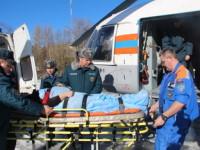 Эвакуация пострадавших в ДТП