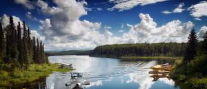 Гидросамолеты на озере