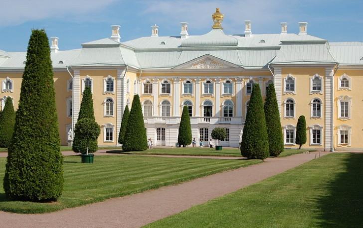 Петергофский дворец, вид со стороны Верхнего сада