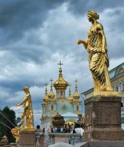 Петергоф, статуи Большого каскада