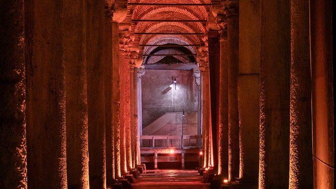Цистерна Базилика в Стамбуле - вход