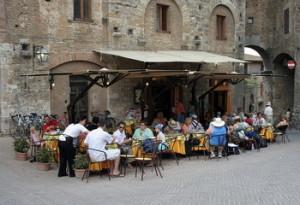 Деревенский ресторан в Тоскане